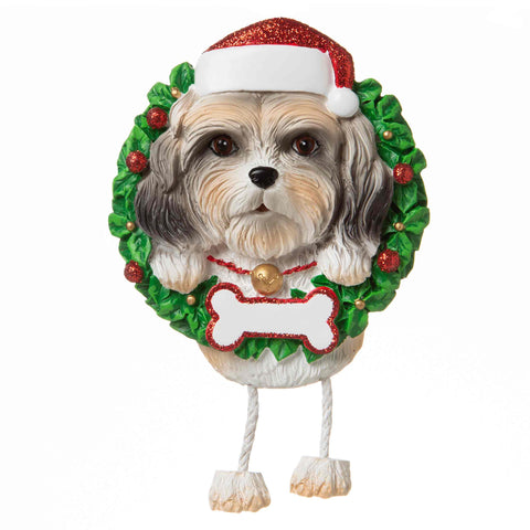OR1712-ST - Shih Tzu (Pure Breed) Personalized Christmas Ornament