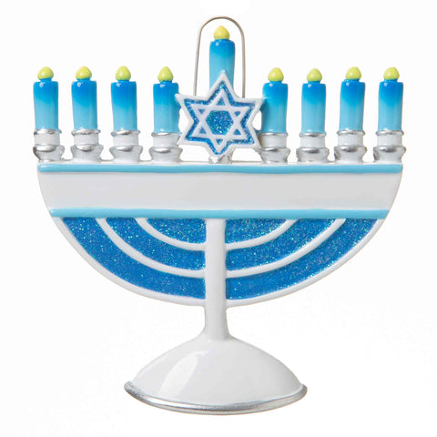 OR1718 - Menorah Personalized Christmas Ornament