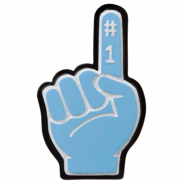 OR1720-LB - #1 Foam Finger (Light) Blue Personalized Christmas Ornament