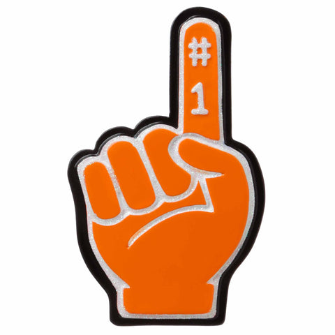 OR1720-OR - #1 Foam Finger (Orange) Personalized Christmas Ornament