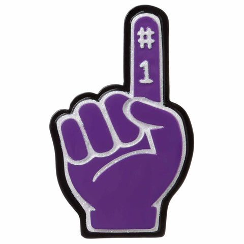 OR1720-PU - #1 Foam Finger (Purple) Personalized Christmas Ornament