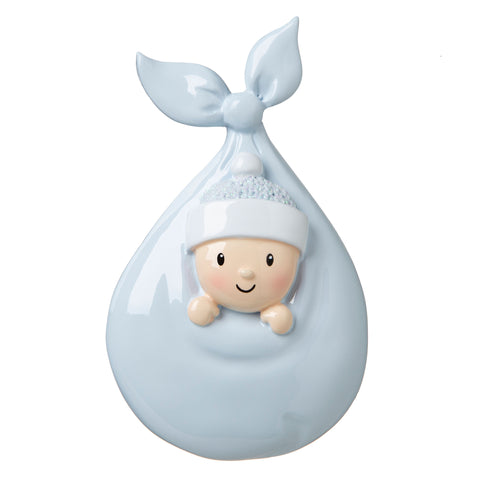 OR1734-B - Baby Bundle (Blue) Personalized Christmas Ornament