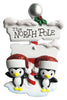 OR1739-2 - North Pole Penguin Family of 2 Personalized Christmas Ornament