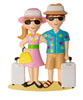 OR1754 - Vacation Couple Personalized Christmas Ornament