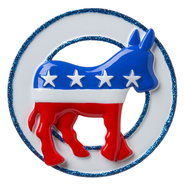 OR1757 - Democratic Donkey Personalized Christmas Ornament