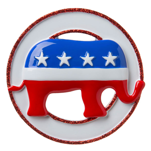 OR1758 - Republican Elephant Personalized Christmas Ornament