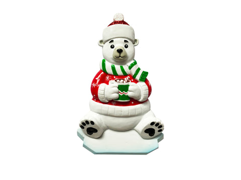 OR1760 - Polar Bear Personalized Christmas Ornament
