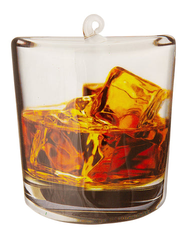 OR1761 - Whiskey Glass Personalized Christmas Ornament