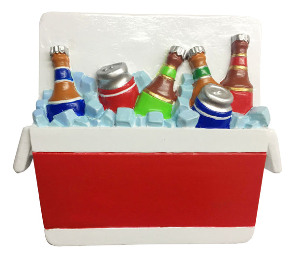OR1762 - Cooler Full of Beer Personalized Christmas Ornament