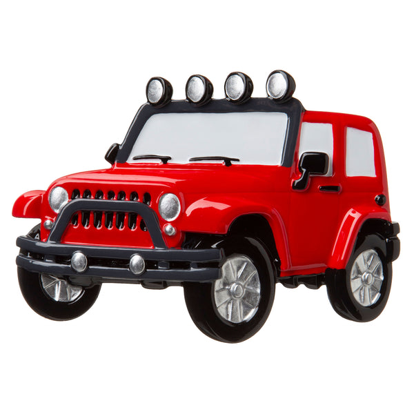 OR1763-RED - Jeep 4X4 Personalized Christmas Ornament
