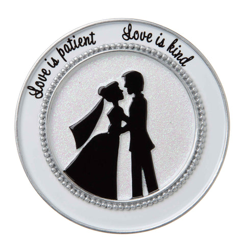 OR1781 - Bride and Groom Couple Silhouette Personalized Christmas Ornament