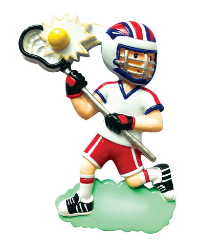 OR1820-B - Lacrosse (Boy) Personalized Christmas Ornament