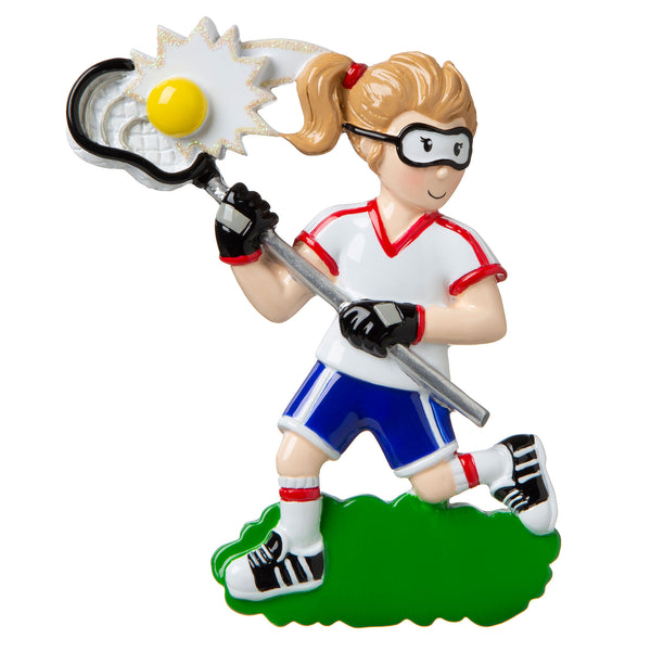OR1820-G - Lacrosse (Girl) Personalized Christmas Ornament