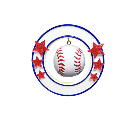 OR1821 - 3D Baseball Personalized Christmas Ornament