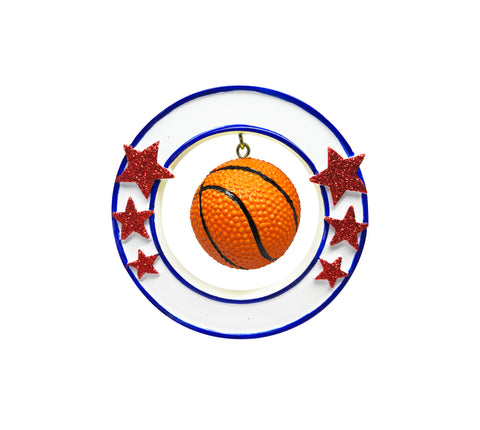 OR1822 - 3D Basketball Personalized Christmas Ornament