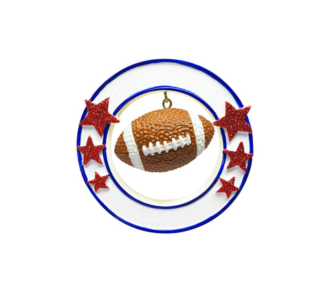 OR1823 - 3D Football Personalized Christmas Ornament