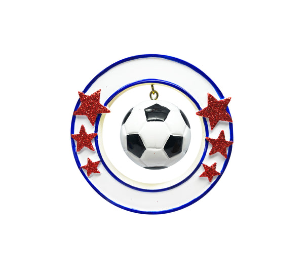 OR1824 - 3D Soccer Ball Personalized Christmas Ornament