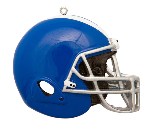 OR1826-B - Football Helmet (Blue) Personalized Christmas Ornament