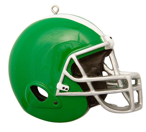 OR1826-G - Football Helmet (Green) Personalized Christmas Ornament