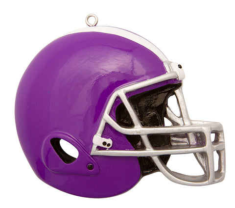 OR1826-P - Football Helmet (Purple) Personalized Christmas Ornament