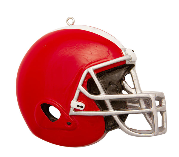 OR1826-R - Football Helmet (Red) Personalized Christmas Ornament