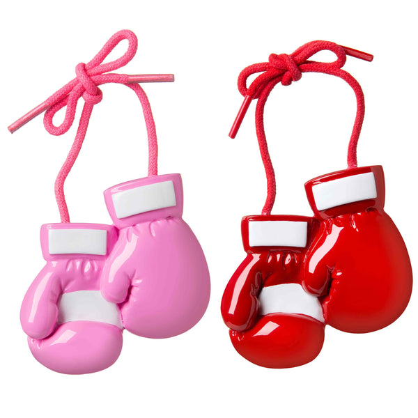 OR1828-A - Boxing Gloves (8 red/4 pink) Personalized Christmas Ornament