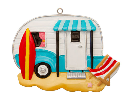 OR1835 - Beach Camper Personalized Christmas Ornament