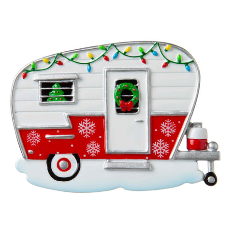 OR1838 - XMAS Camper Personalized Christmas Ornament