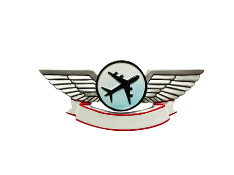 OR1839 - Airplane Wings Personalized Christmas Ornament