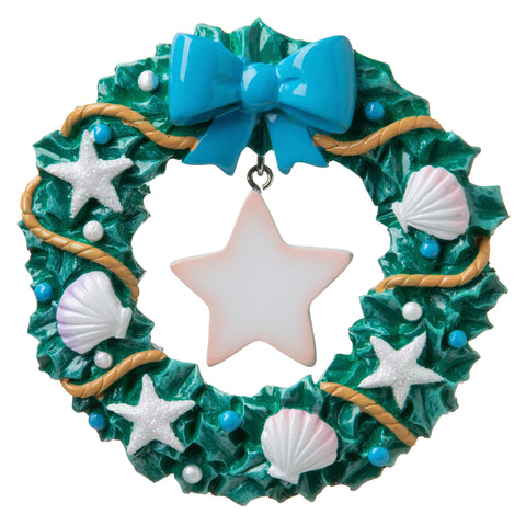 OR1841 - Starfish Wreath Personalized Christmas Ornament