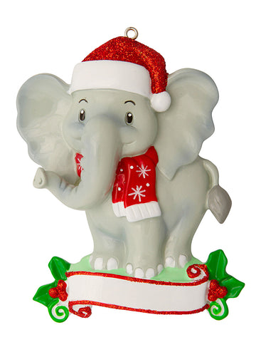 OR1850-ELEPHANT - Elephant (Zoo Animals) Personalized Christmas Ornament