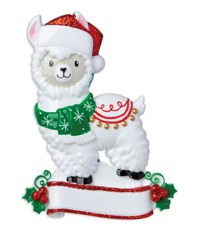 OR1850-LLAMA - Llama Personalized Christmas Ornament