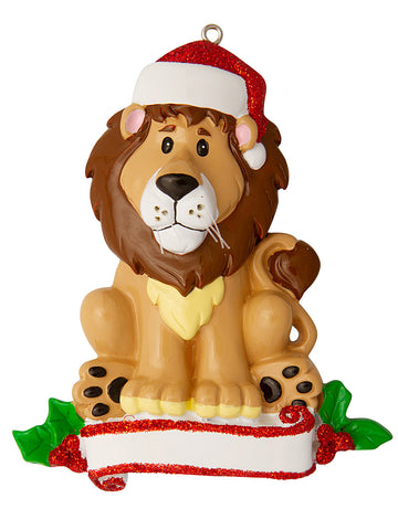 OR1850-LION - Lion (Zoo Animals) Personalized Christmas Ornament