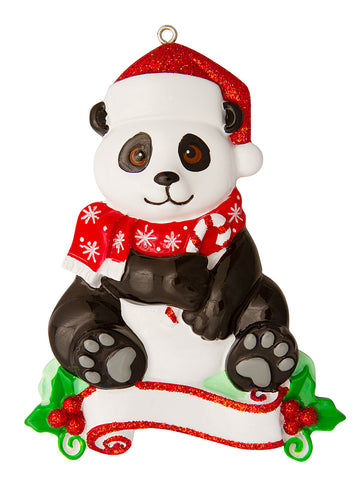 OR1850-PANDA - Panda (Zoo Animals) Personalized Christmas Ornament