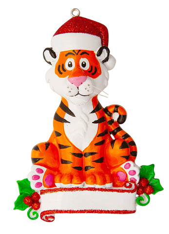 OR1850-TIGER - Tiger (Zoo Animals) Personalized Christmas Ornament