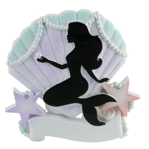 OR1853 - Mermaid Silhouette Personalized Christmas Ornament