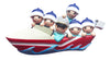 OR1875-6 - Boating Family of 6 Personalized Christmas Ornament