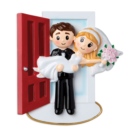 OR1884 - Wedding Couple Threshold Personalized Christmas Ornament