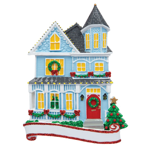 OR1902 - Victorian House Personalized Christmas Ornament