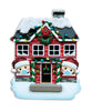 OR1911-2/SD - House Family of 2 with Masks Personalized Christmas Ornament
