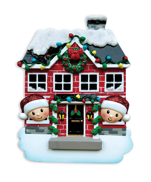 OR1911-2 - New House Family of 2 Personalized Christmas Ornament