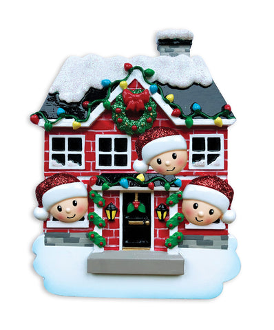 OR1911-3 - New House Family of 3 Personalized Christmas Ornament