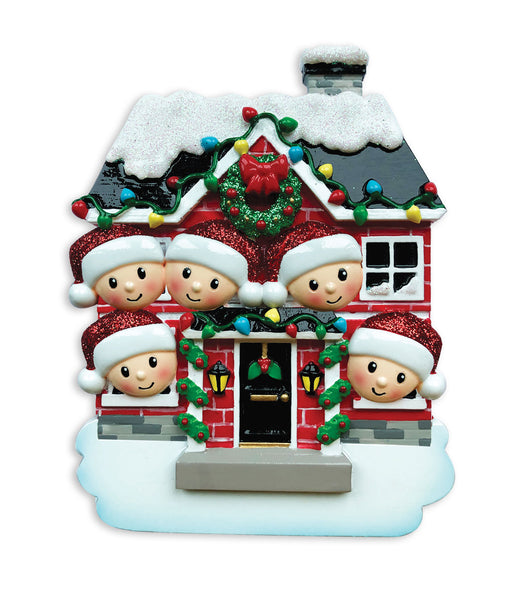 OR1911-5 - New House Family of 5 Personalized Christmas Ornament