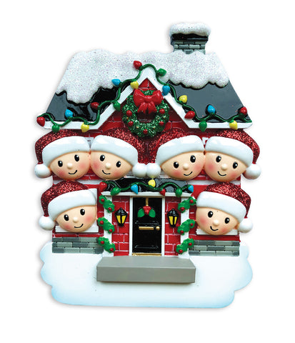 OR1911-6 - New House Family of 6 Personalized Christmas Ornament