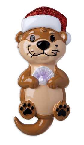 OR1914 - Otter Personalized Christmas Ornament