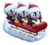 OR1915-3 - Penguin Family of 3 On Sled Personalized Christmas Ornament