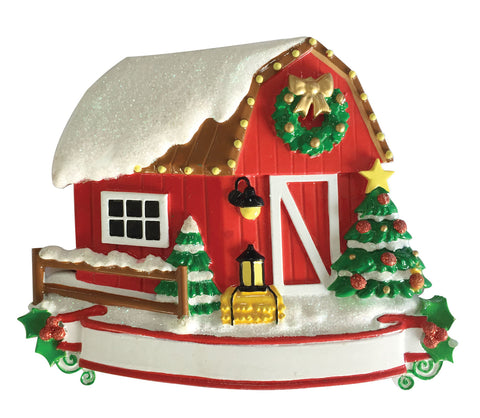 OR1937 - New Barn Personalized Christmas Ornament