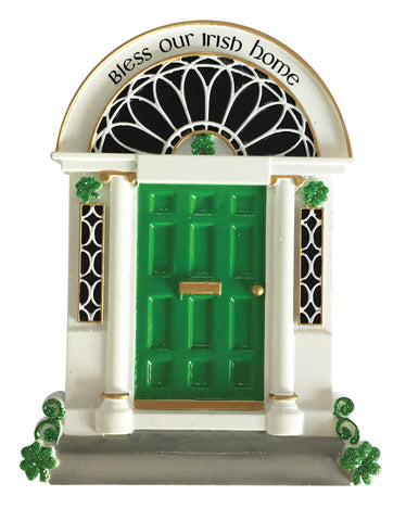 OR1951 - New Irish Door Personalized Christmas Ornament