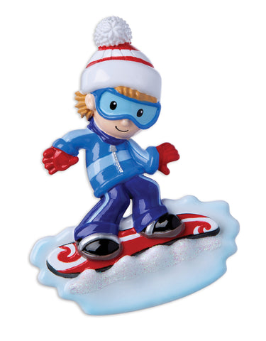 OR1958-B - Snowboader Boy Personalized Christmas Ornament