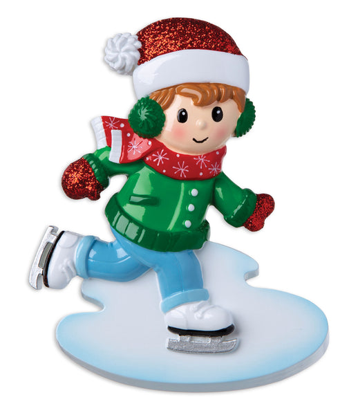 OR1959-B - Ice Skater Boy Personalized Christmas Ornament